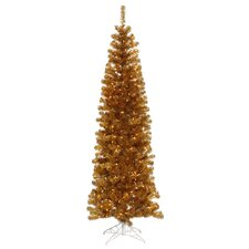 Colorful 6' Ant Gold Artificial Christmas Tree with 350 Clear Lights