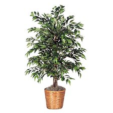 "Deluxe 48"" Artificial Potted Smilax Tree in Dark Green"