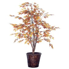 "Deluxe 48"" Artificial Potted Natural Birch Tree in Gold"