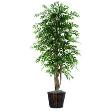 "Executive 72"" Artificial Potted Natural Smilax Tree in Green"