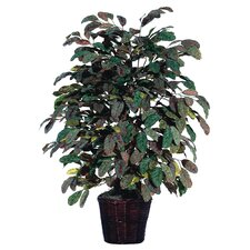 Deluxe Artificial Potted Natural Apple Tree in Basket