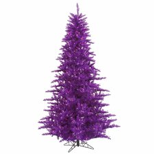 6.5' Purple Fir Artificial Christmas Tree with 600 Mini Clear Lights