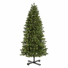 Grand Teton 9.5' Medium Green Artificial Christmas Tree with 1150 LED White Lights