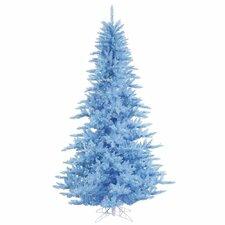 12' Sky Blue Fir Christmas Tree with 1650 LED Sky Blue Lights