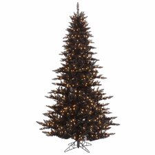 12' Black Fir Christmas Tree with 1650 LED Clear Lights