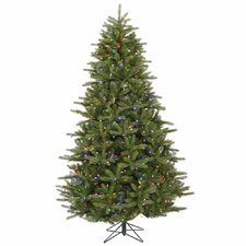 Majestic 7' Green Frasier Christmas Tree with 950 LED Lights Multi with Stand
