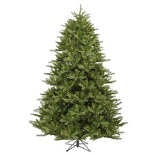 Majestic 7' Green Frasier Artificial Christmas Tree with 1150 Dura-Lit Clear Lights with Stand