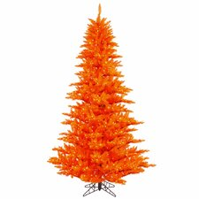 6.5' Orange Fir Artificial Christmas Tree with 600 Mini Orange Lights