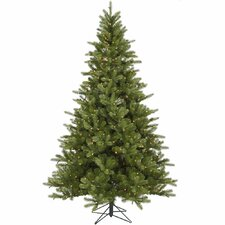 King 6.5' Green Spruce Artificial Christmas Tree with 350 Dura-Lit Clear Lights with Stand