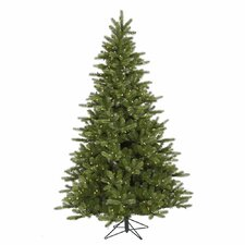 King 9' Green Spruce Artificial Christmas Tree with 850 LED Warm White Lights with Stand