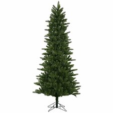 Kennedy Slim 6.5' Green Fir Artificial Christmas Tree with 400 LED White Lights with Stand