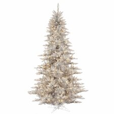 12' Silver Fir Artificial Christmas Tree with 1650 LED Clear Lights with Stand