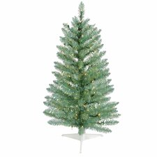 3' Turquoise Green Pine Artificial Christmas Tree with 70 Clear Lights