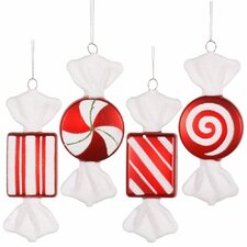 Candy Christmas Ornament Set (Set of 4)