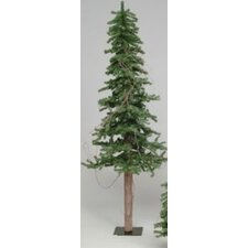 Alpine Tree 7' Green Pine Artificial Christmas Tree with Stand