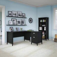 Connecticut 2-Piece L-Shape Desk Office Suite