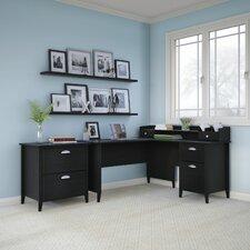 Connecticut 3-Piece L-Shape Desk Office Suite