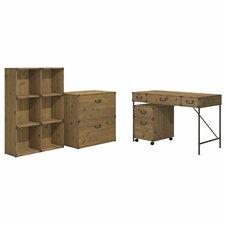 Ironworks 4 Piece Desk Office Suite Set