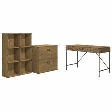 Ironworks 3 Piece Desk Office Suite