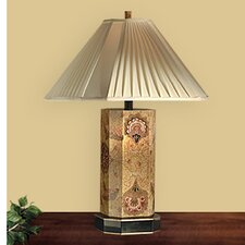 """Wooden 26"""" H Table Lamp with Empire Shade"""