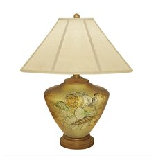 """Shells 23"""" H Table Lamp with Empire Shade"""