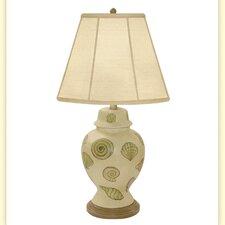 "La Fonda Wild West Shell Porcelain 30"" H Table Lamp"