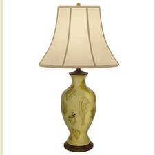 """Pelomino Shell Hand Painted Porcelain 32"""" H Table Lamp"""