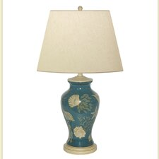 """Shell in The Sea Hand Painted Porcelain 27"""" H Table Lamp"""