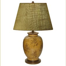 "Amber Waves of Grain Hand Painted Porcelain 28"" H Table Lamp"