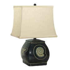 """Quad Vase Shell Hand Painted Porcelain 16"""" H Table Lamp"""
