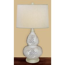 """Open Shell 24"""" H Table Lamp with Empire Shade"""