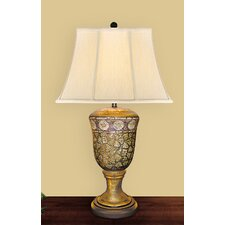 """Egg Shell 32"""" H Table Lamp with Bell Shade"""