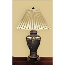 """Egg Shell Trim on Onyx 30"""" H Table Lamp with Empire Shade"""