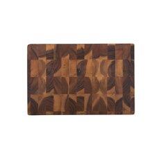 Acacia Rectangular Checker Board