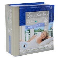 Luxury Sleep Story Eucalyptus Tencil Fitted Mattress Protector and Flat Sheet