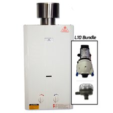 2.6 GPM Portable Tankless Water Heater with Flojet Pump & Strainer