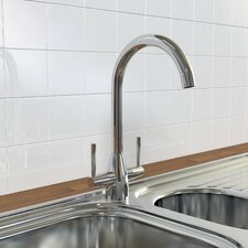 Double Handle Monobloc Mixer Tap with Swiveling Spout