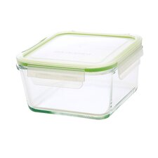 GoGreen Glassworkds 35 Oz. Square Oven Safe Glass Food Storage Container