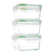 GoGreen Glassworks 3-Piece Food Storage Container Set (Set of 3)