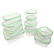 Glassworks 20-Piece Oven Safe Glass Food Storage Container Set