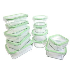 Glassworks 22 Piece Oven Safe Glass Food Storage Container Set