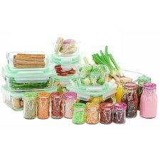 GoGreen Glassworks 30-Piece Glass Food Storage Container Set