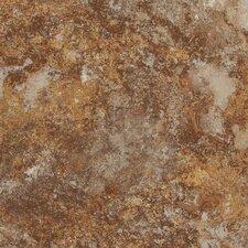 "DuraCeramic Rapolano 16"" x 16"" x 4.06mm Luxury Vinyl Tile in Terra Brown"