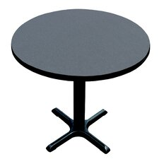 High Round Bar and Café Table with X Base and Column