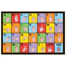 Fun Time Sign Language Kids Rug