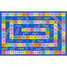 Fun Time Snakes and Ladders Kids Rug