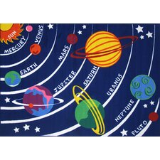 Fun Time Solar System Kids Rug