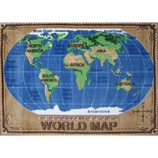Supreme World Map Kids Rug