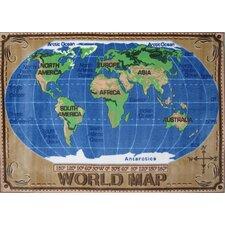 Supreme World Map Kids Rug