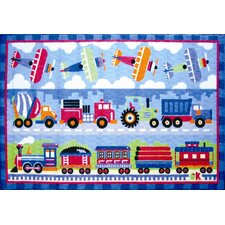 Olive Kids Trains, Planes and Trucks Area Rug